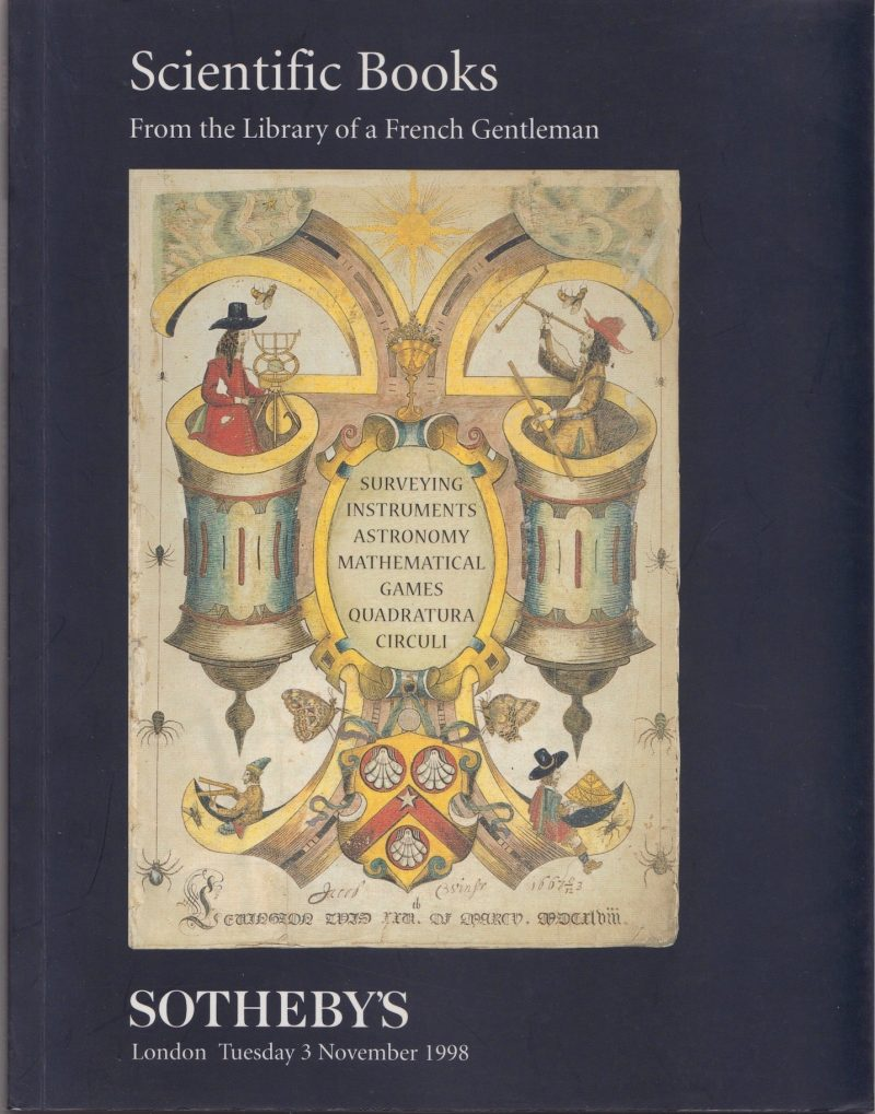Sotheby's: Scientific Books from the Library of a French Gentleman, 1998. £7.50