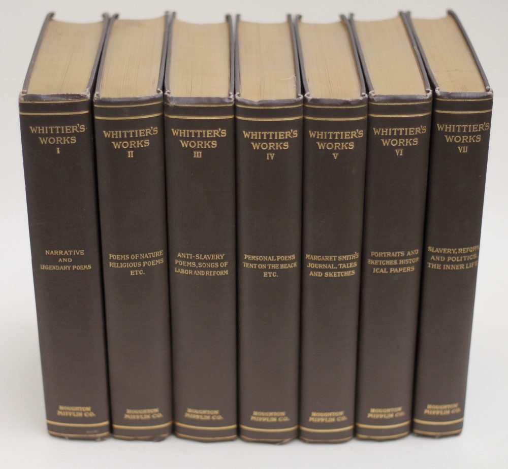 John Greenleaf Whittier: The Complete Writings, 1892-1894. £175