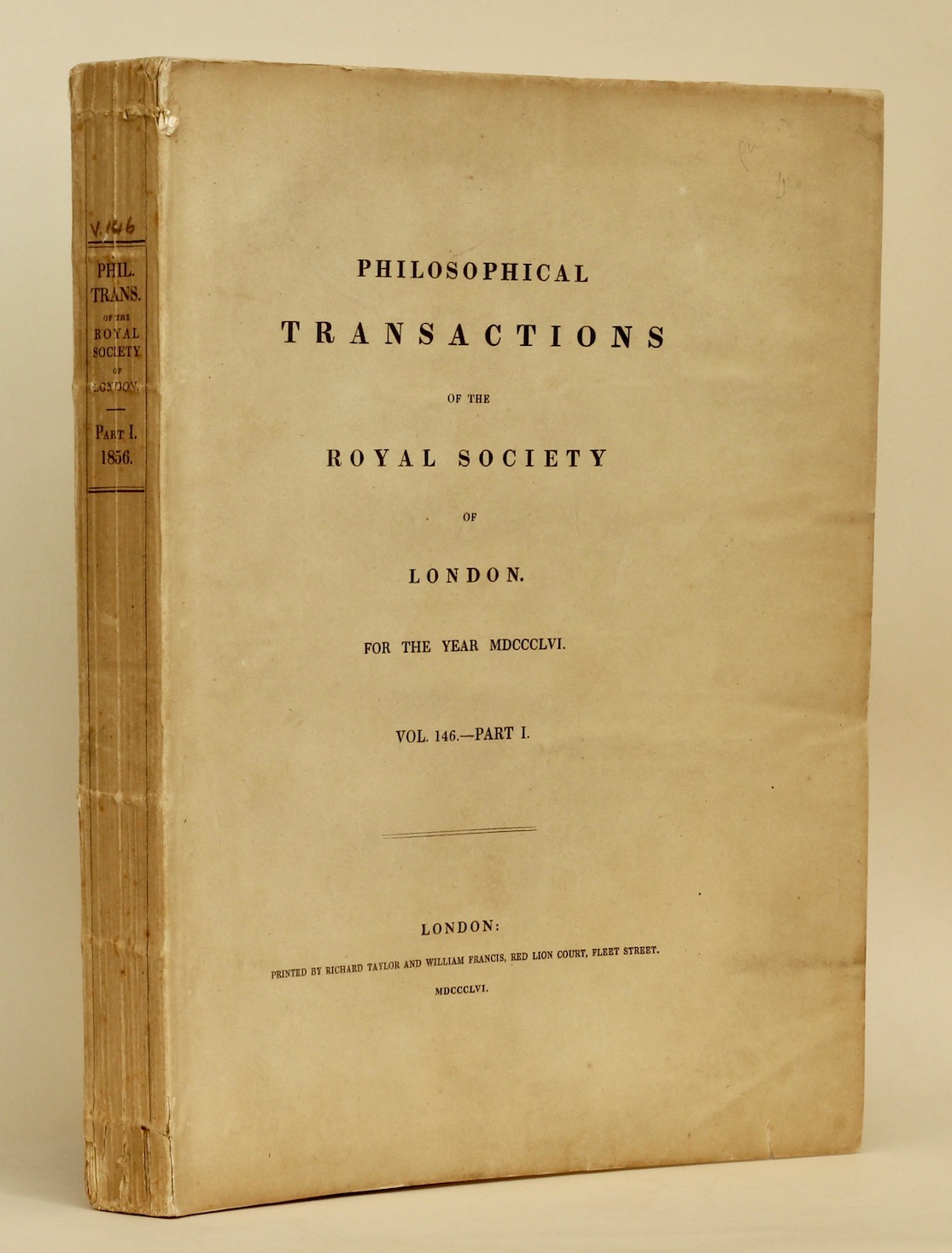 Michael Faraday: 'Experimental Researches in Electricity', conclusion, 1856. £250