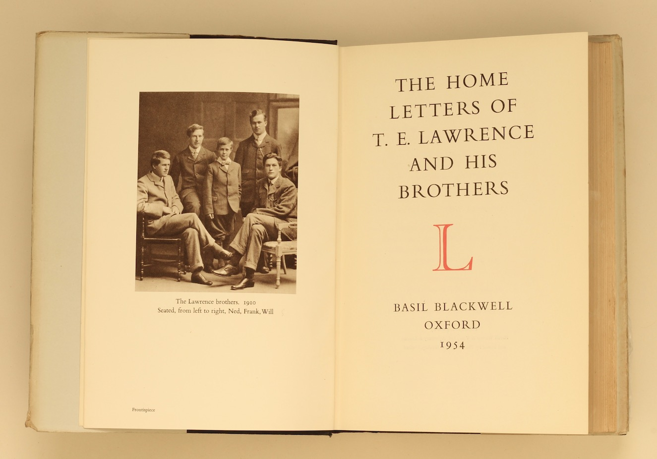 The Home Letters of T.E. Lawrence and his Brothers, 1954 – bequeathed to Jeremy Wilson. £295