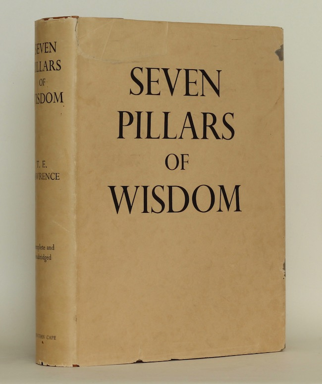 T.E. Lawrence: Seven Pillars of Wisdom, 1935 – from the library of Jeremy Wilson. £750