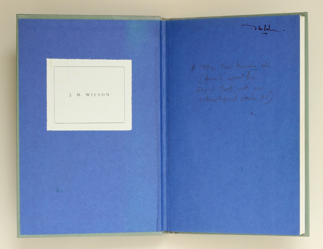 T.E. Lawrence: Minorities, 1972 – annotated by its editor Jeremy Wilson. £450