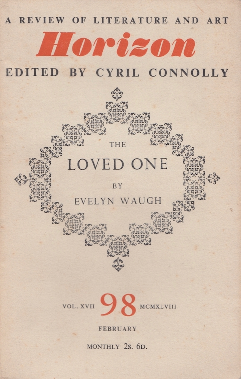 Evelyn Waugh: The Loved One (in Horizon, 1948) – first edition. £47.50