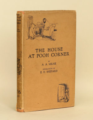 Alan Milne: The House at Pooh Corner, 1928 – first edition. £750