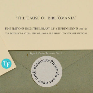 T&F Twenties No 2: The Cause of Bibliomania