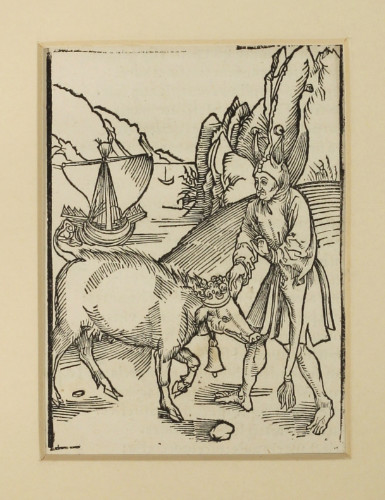 Albrecht Dürer (attrib.): Woodcut from Sebastian Brant's Narrenschiff, 1497. £750