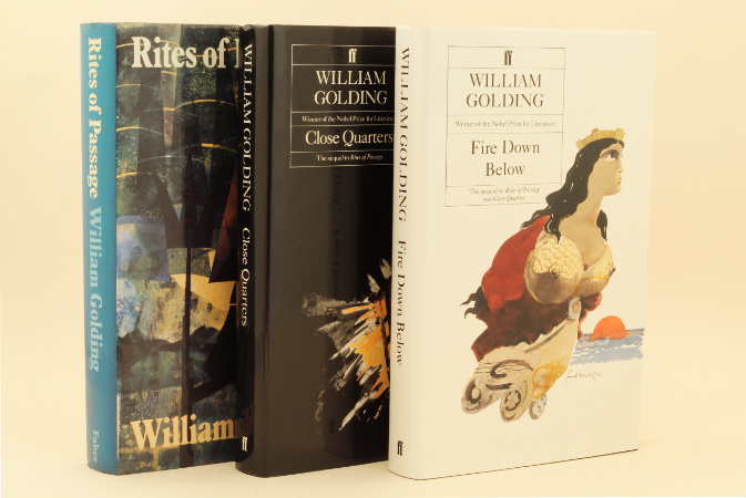 William Golding: To the Ends of the Earth – trilogy, 1980-89 – first editions. £69.50