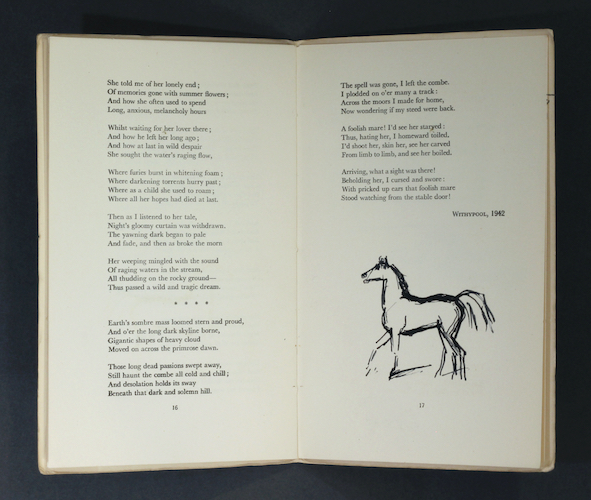 Sir Alfred James Munnings: Old Brandy & Cherry Bounce, ca 1943-48 – inscribed & illustrated for Desmond MacCarthy. £1,250