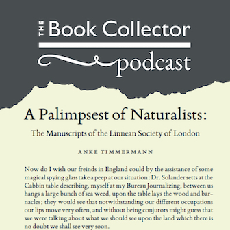 Podcast: Anke Timmermann on Banks and the Linnean Society