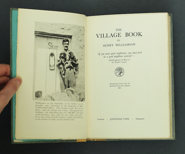 Henry Williamson: The Village Book, 1930 – signed limited edition. £150