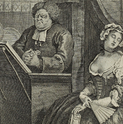William Hogarth: The Sleeping Congregation, 1762. £150