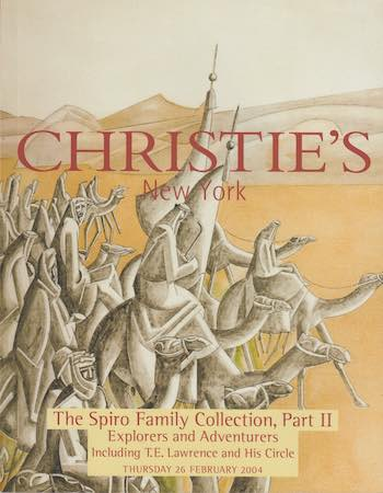 T.E. Lawrence – Christie's: The Spiro Family Collection, Part II, 2004. £17.50