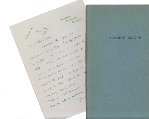 Philip Henry George Gosse: A Visit from George Moore, 1937 – one of 100 privately printed on St Helena, with a letter. £139.50